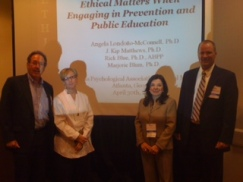 Presenting on ethics and media at the Georgia Psychological Association's Annual Meeting